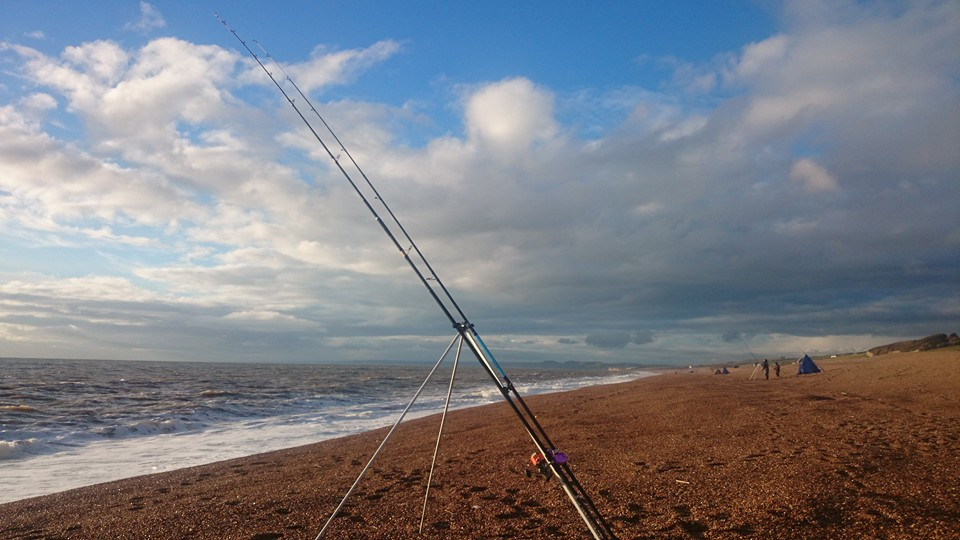 Chesil beach in the winter