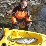 Kayak fishing in Norway
