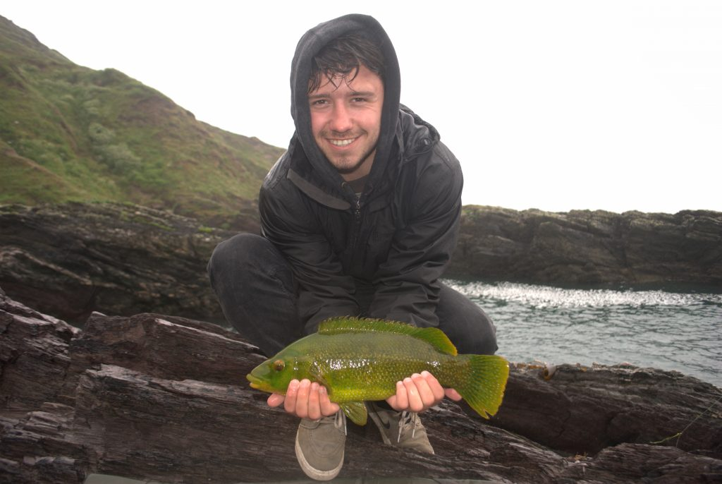 Olly Vickery with a stunning bright green 'Rock Pig'