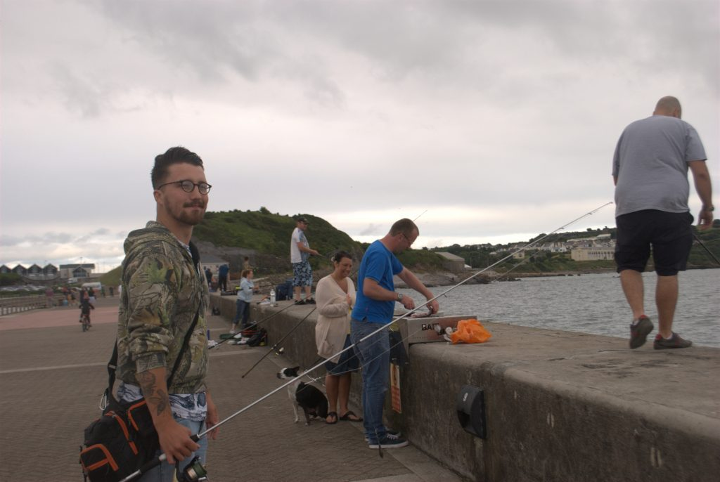 Fishermen, Fishermen, Everywhere, With Barely A Spot To Cast